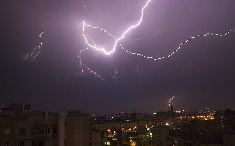 Ночная гроза в Москве