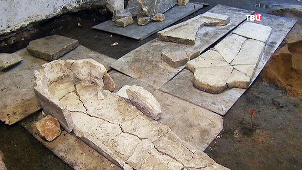 Археологические раскопки на территории Кремля