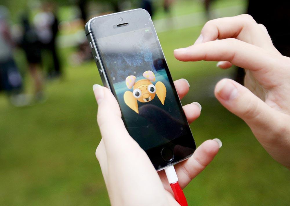 Поклонники игры Pokemon GO