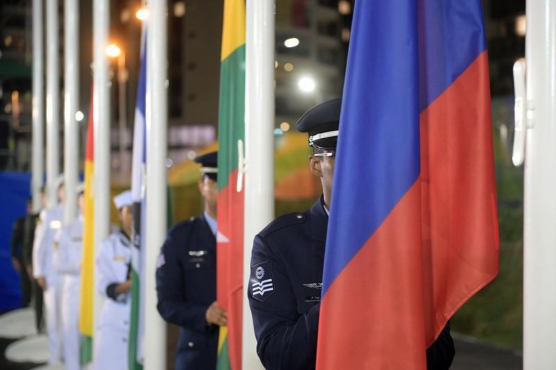 Флаги в Олимпийской деревне в Рио