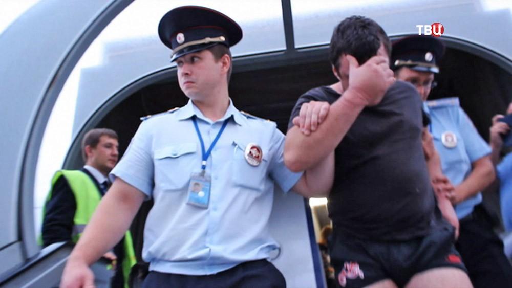 Полиция задерживает авиадебошира
