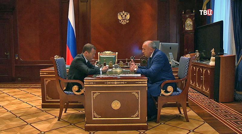 Дмитрий Медведев на встрече с главой Удмуртии Александром Соловьевым