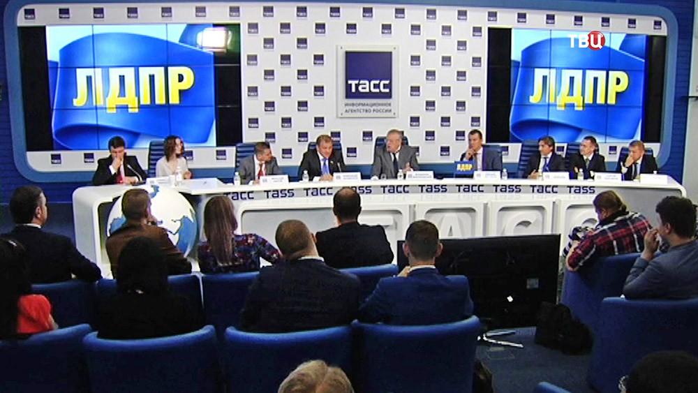Пресс-конференция ЛДПР