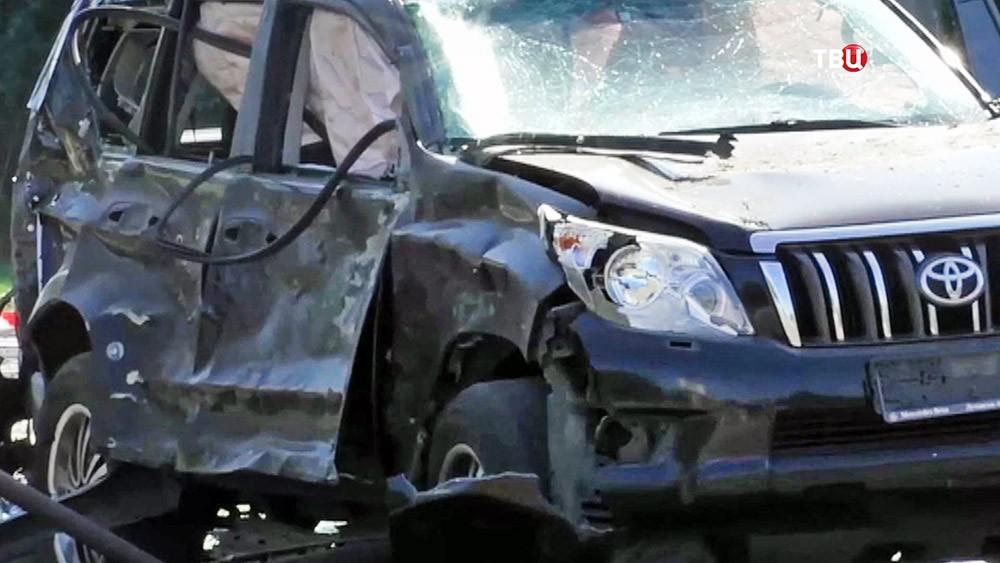 Взорванный автомобиль