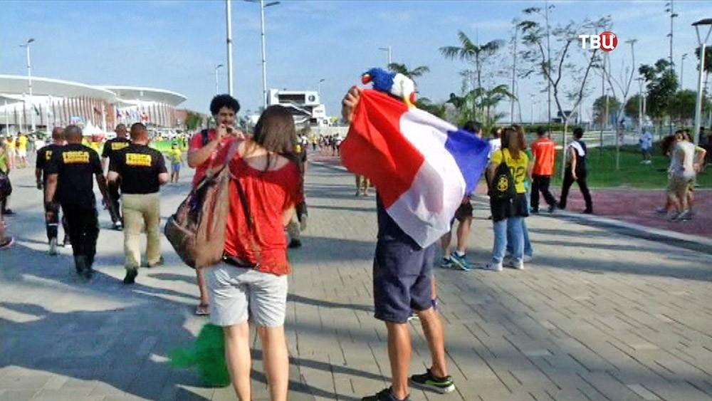 Французские болельщики на Олимпийских играх в Рио-де-Жанейро