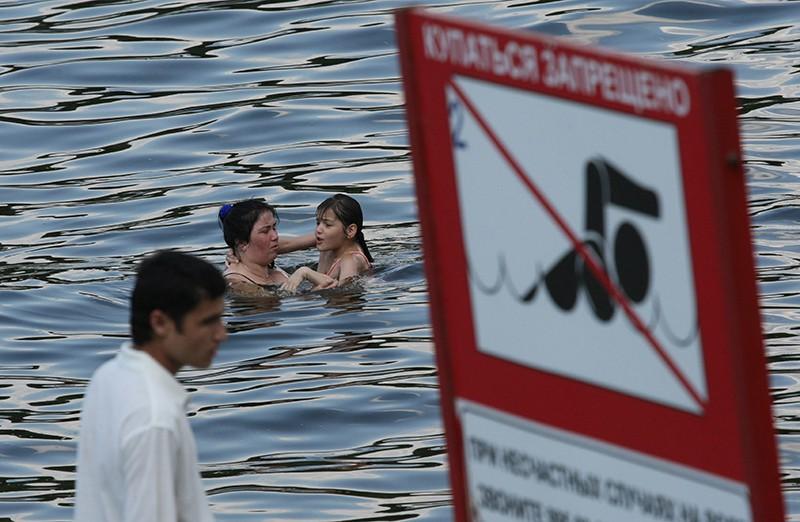 Запрет на купание в зоне отдыха