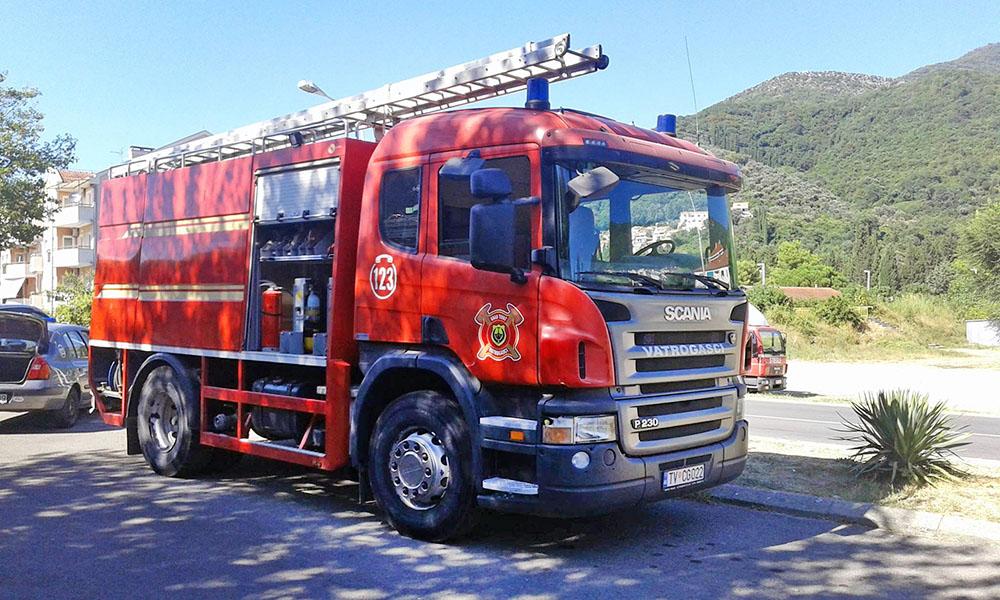 Пожарные в Черногории
