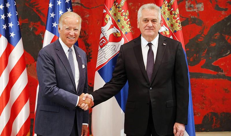 Президент Сербии Томислав Николич и вице-президент США Джо Байден