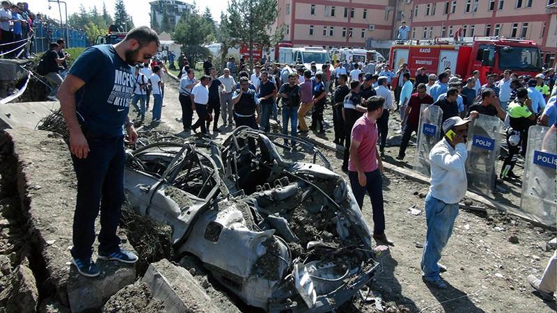 На месте взрыва в Турции