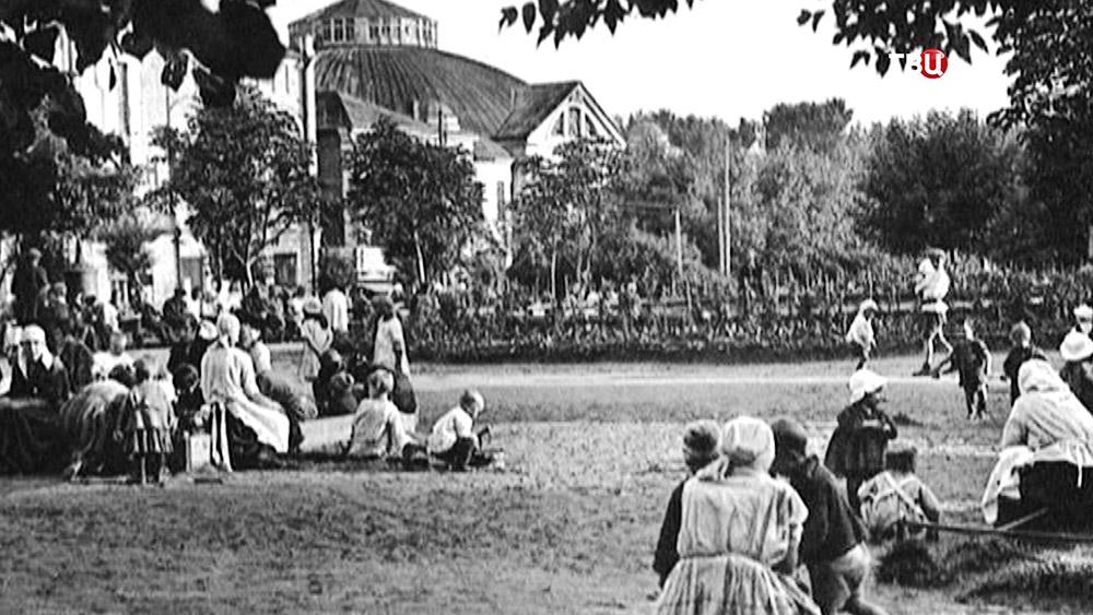 Архивные кадры Триумфальной площади