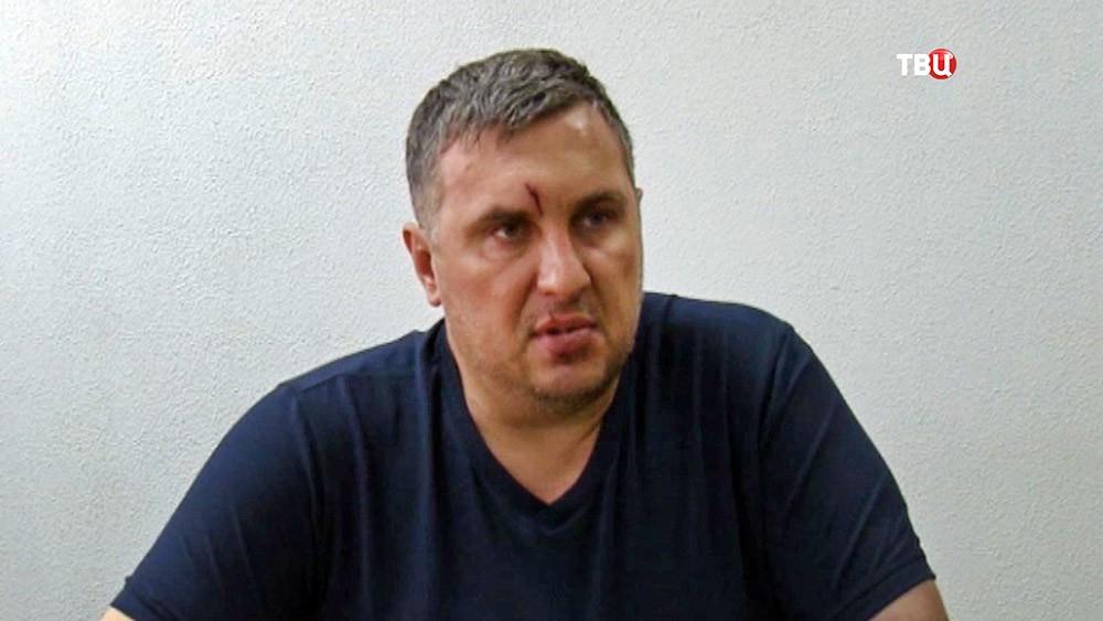 Задержанный сотрудник ГУР министерства обороны Украины Евгений Панов