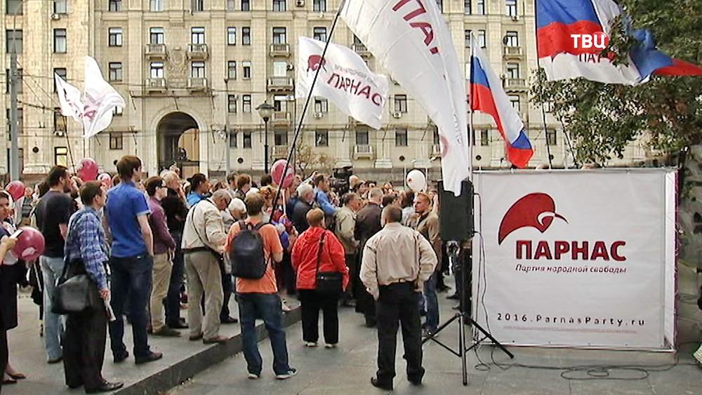 Митинг партии ПАРНАС
