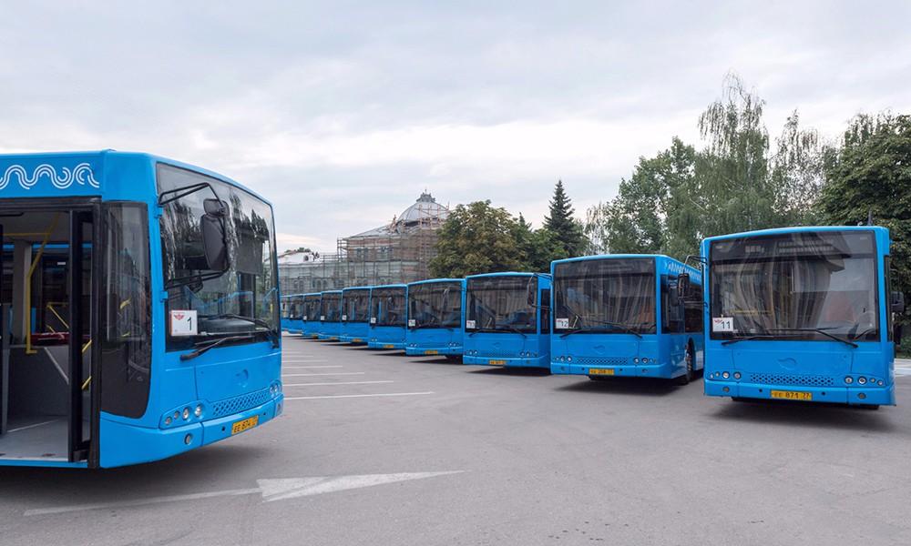 Автобусы переданные Тульской области от правительства Москвы