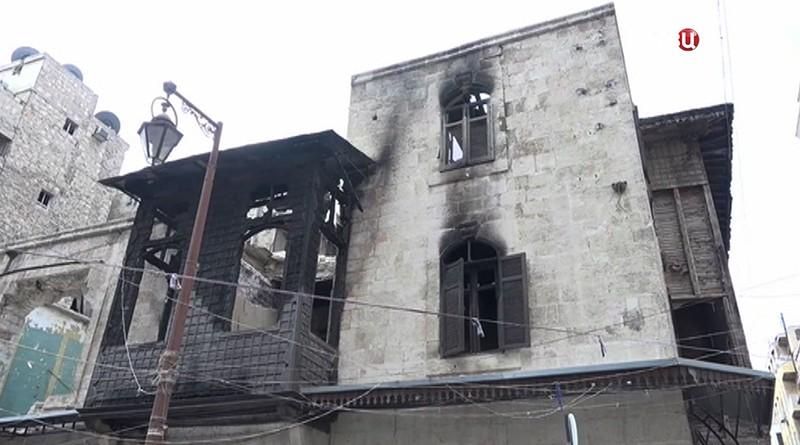Разрушенные улицы Алеппо