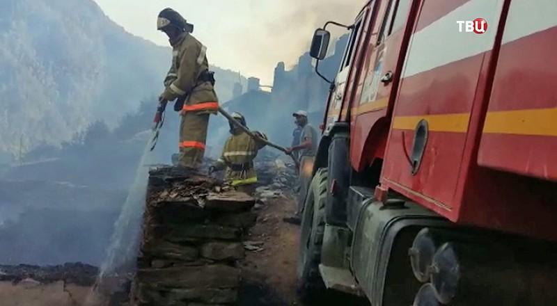 Пожар в Дагестане
