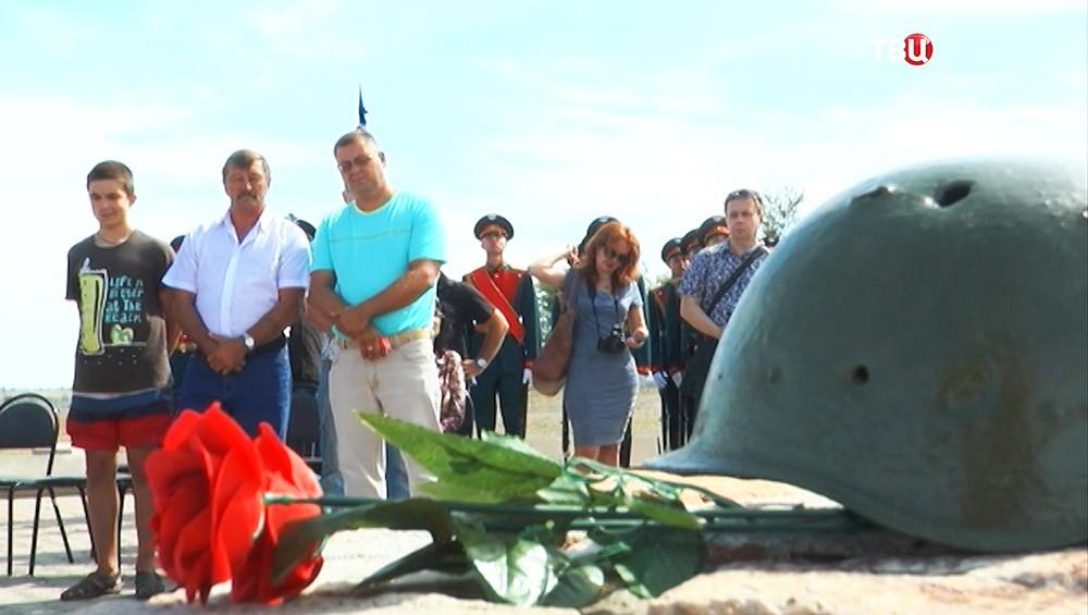 Церемония захоронения останков солдат, погибших во время боёв под Сталинградом