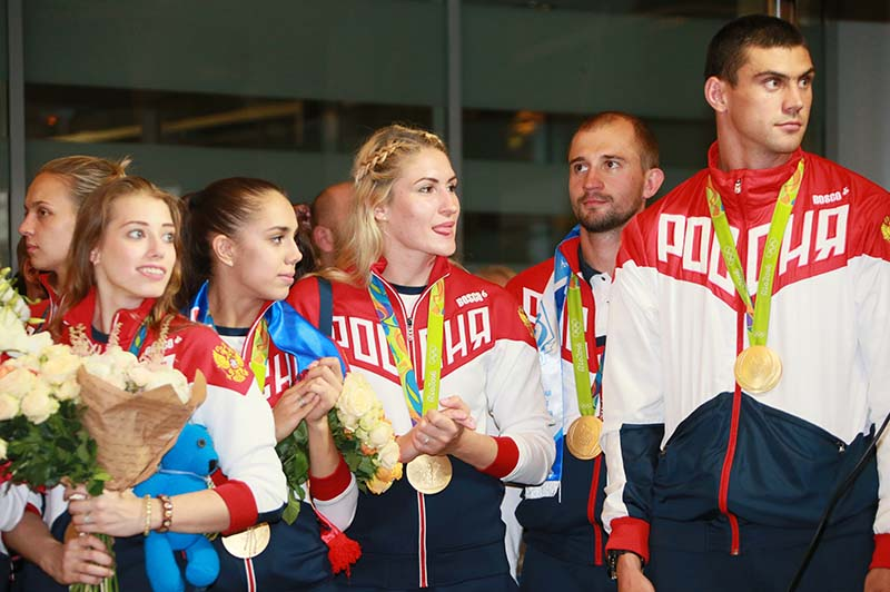 Спортсмены Олимпийской сборной России