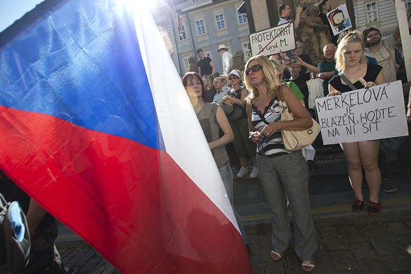 Митинг протеста в Праге
