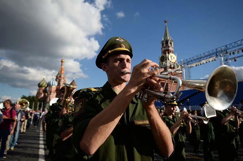 """Фестиваль """"Спасская башня"""" на Красной площади в Москве"""