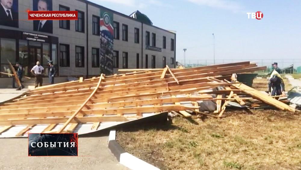 Последствия урагана в Чечне