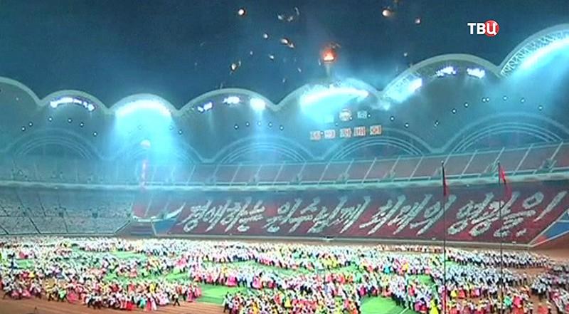 Факельное шоу в Пхеньяне