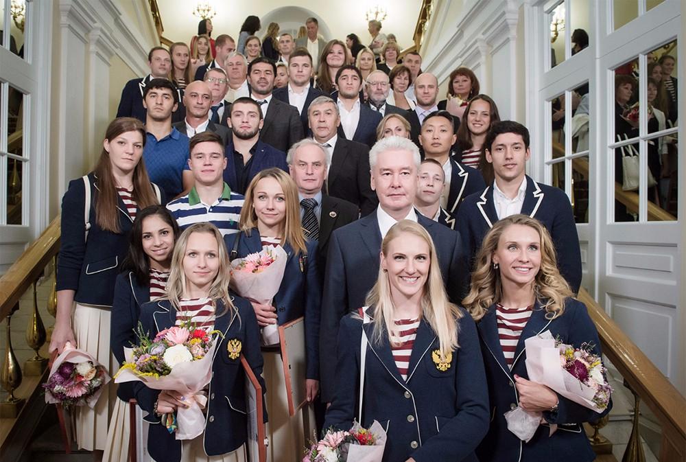 Сергей Собянин на церемонии награждения московских спортсменов и тренеров — победителей и призёров XXXI летней Олимпиады