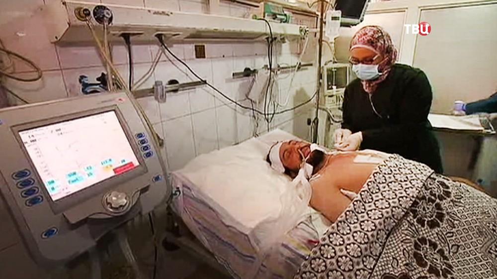 Пострадавшие в госпитале в Сирии