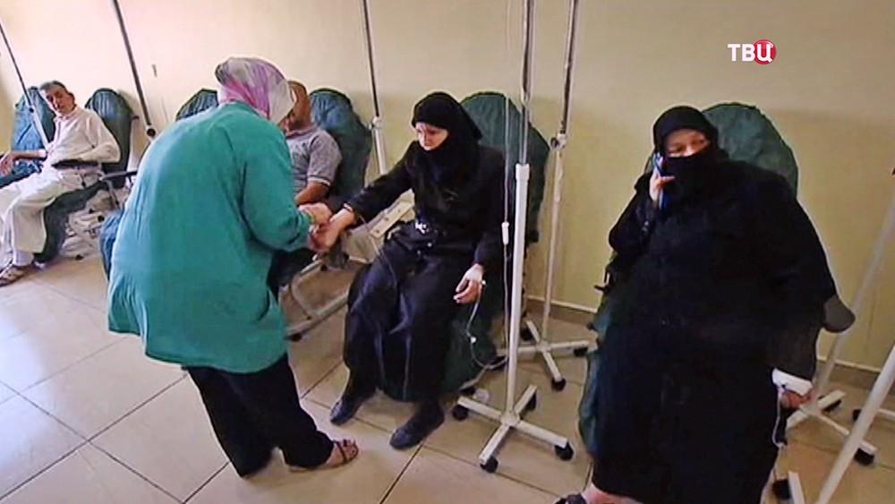 Доноры в госпитале в Сирии