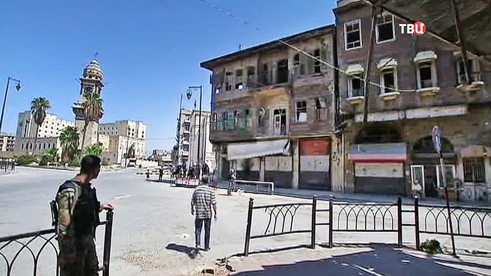 Жители города Алеппо