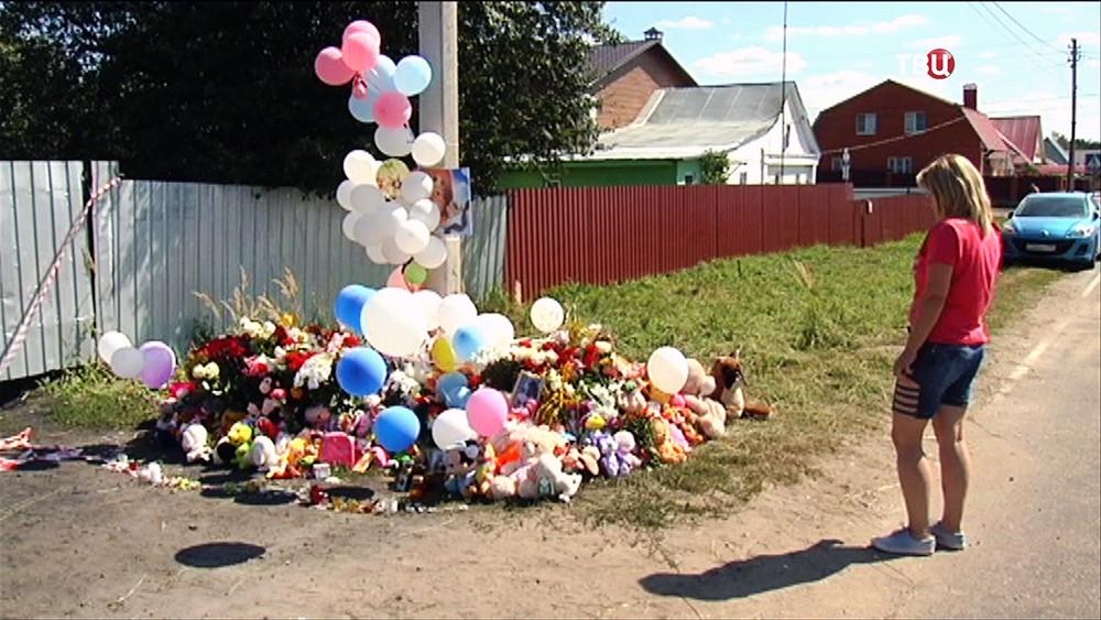 Место убийства 6-летней Вероники в подмосковных Озерах