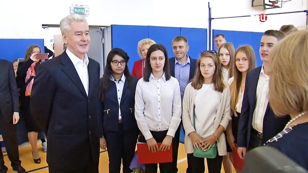 Сергей Собянин пообщался со школьниками