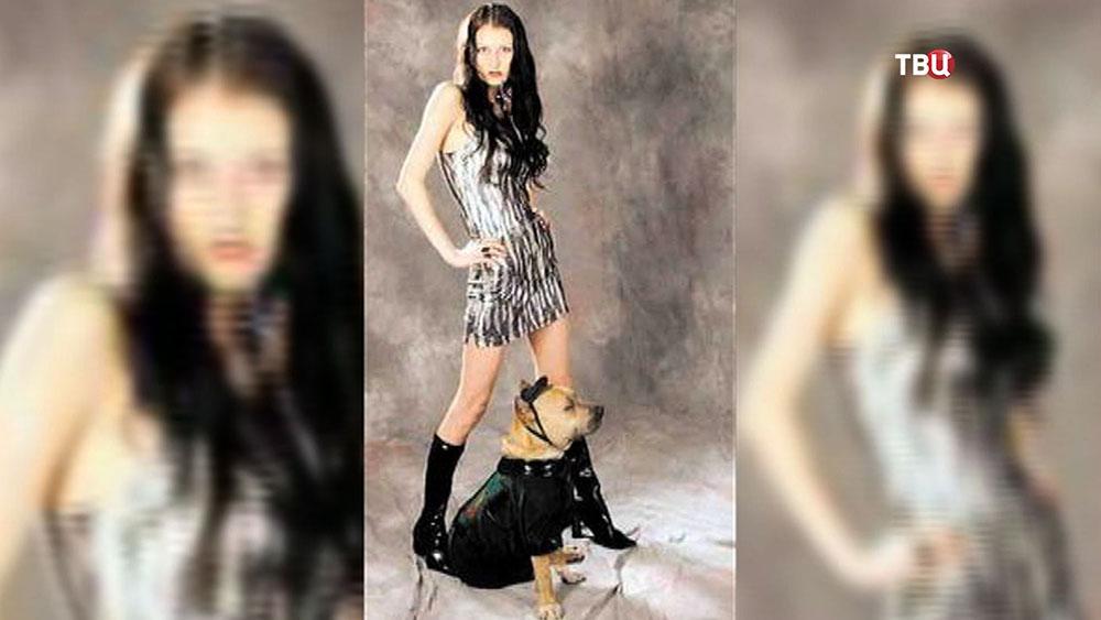 Убившая собаку фотомодель Юлианна Романова