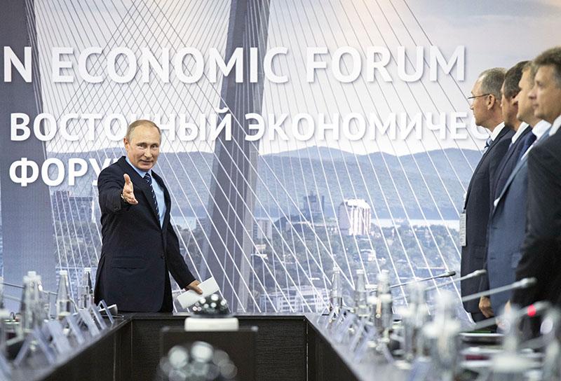 Президент РФ Владимир Путин во время встречи с перспективными инвесторами Дальневосточного федерального округа