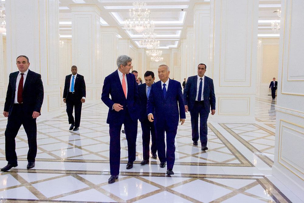 Президент Узбекистана Ислам Каримов и госсекретарь США Джон Керри