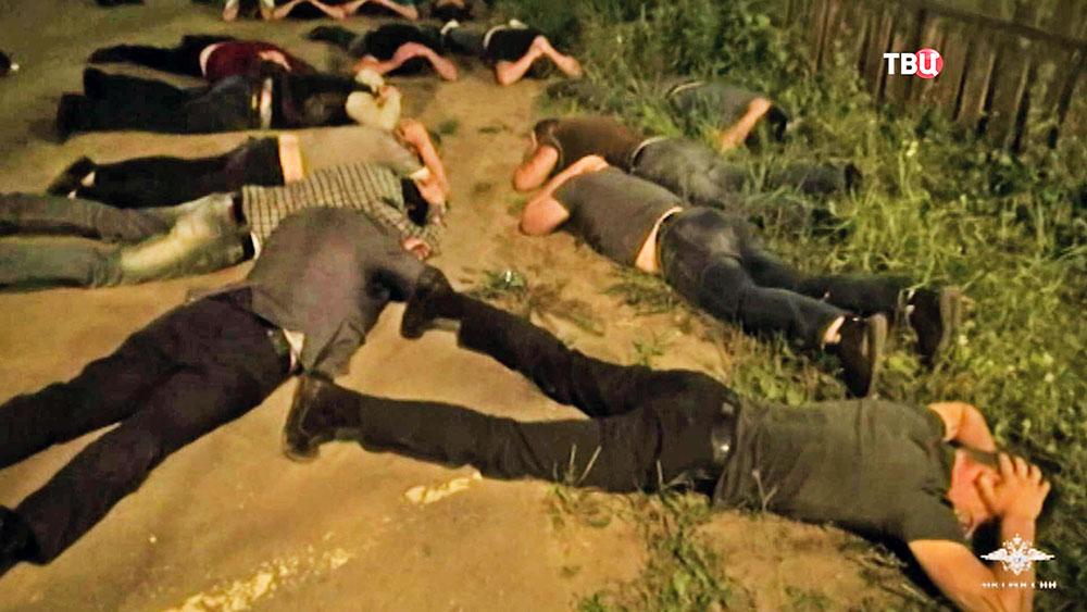 Задержанные члены банды