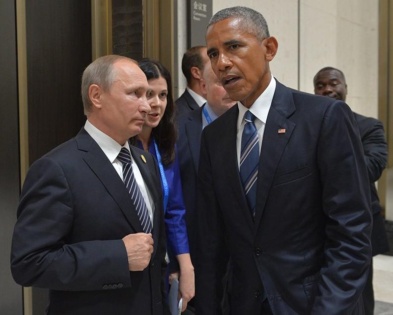 Президент России Владимир Путин и президент США Барак Обама во время встречи в Ханчжоу
