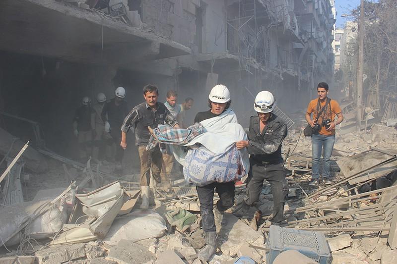 На месте взрыва в Сирии