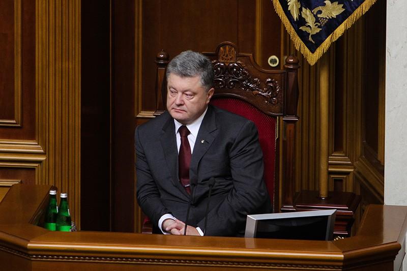 Президент Украины Пётр Порошенко во время заседания Верховной Рады