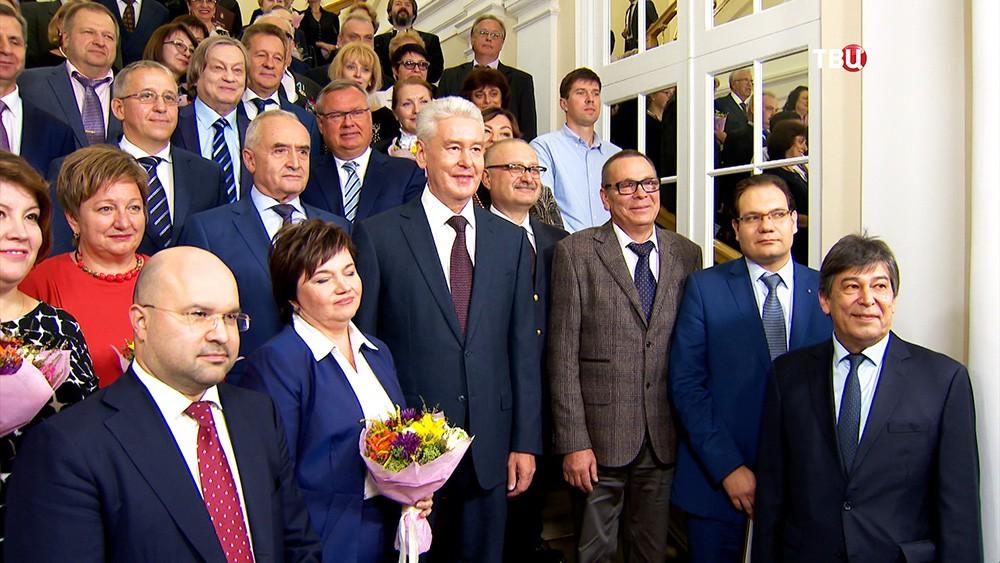 Мэр Москвы Сергей Собянин во время вручения государственных наград и наград города Москвы