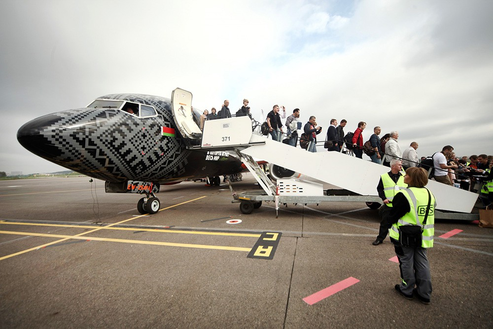 Самолет из Белорусии