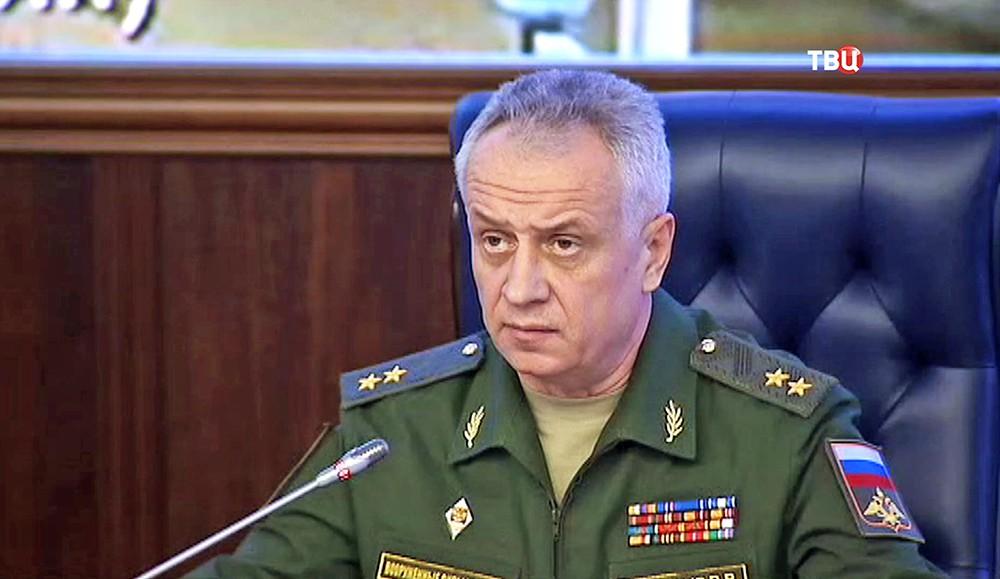 Первый замначальника Главного оперативного управления Генштаба ВС Виктор Познихир