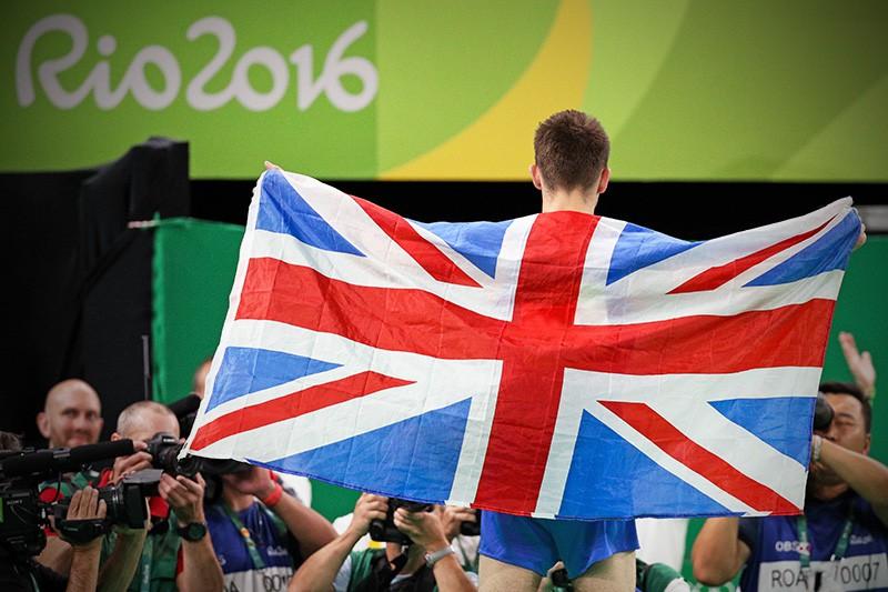 Спортсмен из Великобритании на олимпийских играх в Рио-де-Жанейро