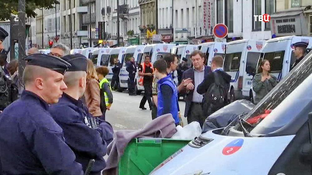 Усиление полиция Франции