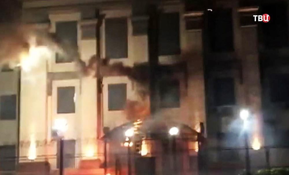 Нападение на посольство России на Украине