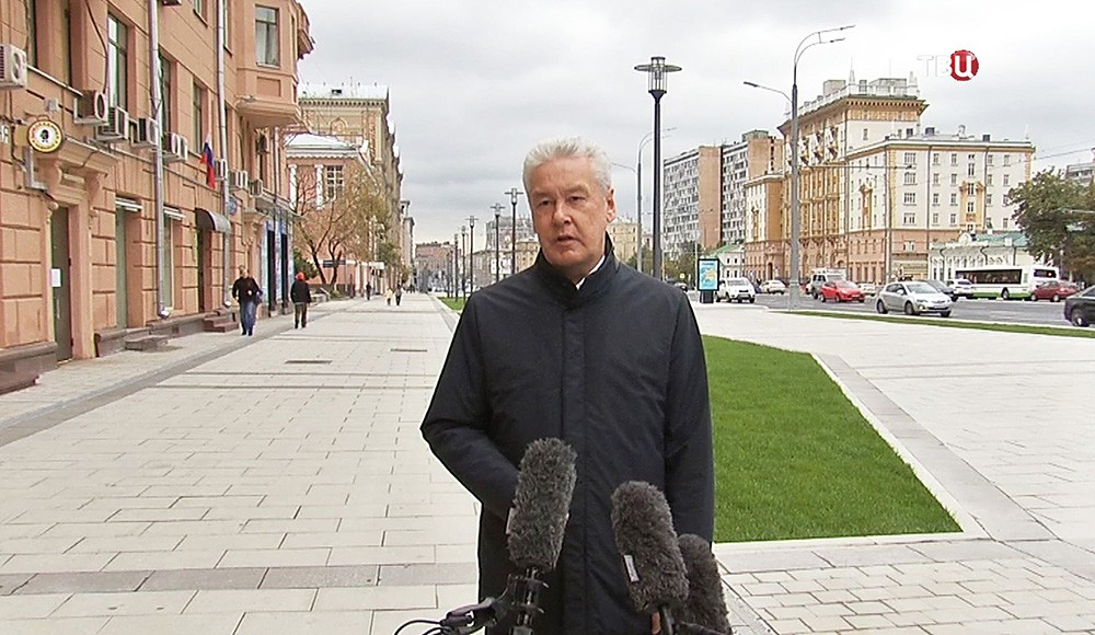 Сергей Собянин на Садовом кольце