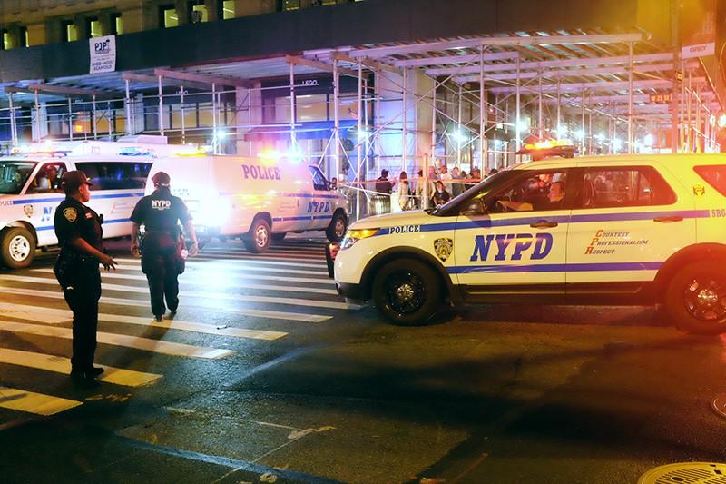 Полиция Нью-Йорка на месте происшествия