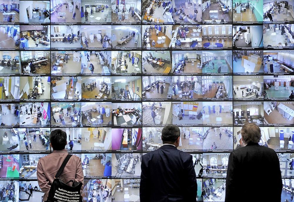 Видеонаблюдение за ходом голосования на избирательных участках