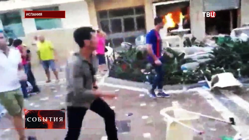 Взрыв в кафе в Испании