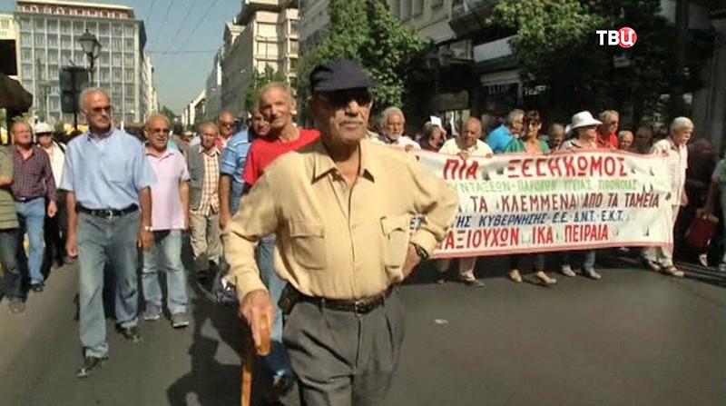 Митинг в Афинах