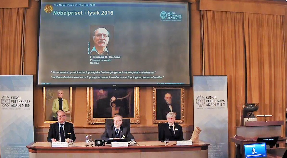 Лауреат Нобелевской премии по физике 2016 года F. Duncan M. Haldane